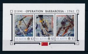 [81032] St. Kitts 2011 Second World war Operation Barbarossa Sheet MNH