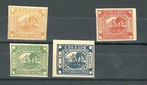 Argentina Buenos Aires 2-5   Mint reprints? 1858 PD