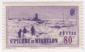 St Pierre & Miquelon, Sc 189, MH, 1938, Tortue Lighthouse
