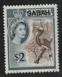 Malaysa Sabah overprint on North Borneo Scott 14 Used