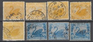 COLLECTION LOT OF #1500 WESTERN AUSTRALIA 8 STAMPS 1899+ CLEARANCE CV+$30