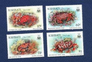 KIRIBATI - Scott 682-685 - FVF MNH -  Sea Crabs, Animals - 1996