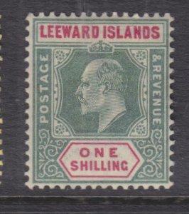 LEEWARD ISLANDS, 1902 KEVII CA 1s. Green & Carnine, lhm.