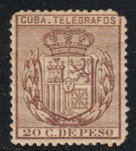 1890 Cuba Stamps E 70 Telegraphs 20c Spain  NEW