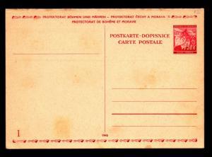 Bohemia Moravia 1.5k Reply Card Unused / Entire - Z14025