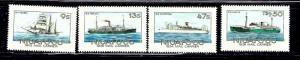 Tonga-Niuafiou 56-59 MNH 1985 Mail Ships
