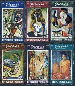 Togo 868-870,C217-C219,CTO.Michel 1025-1030. Pablo Picasso paintings,1974.