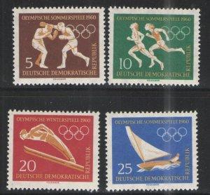 Germany - GDR/DDR 1960 Sc# 488-491 MH VG/F - 1960 Olympics