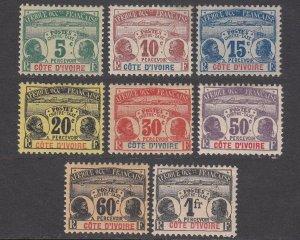 Ivory Coast J1-J8 MVLH CV $108.25