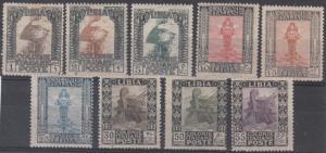 Libya Scott 20-28 Mint hinged (Catalog Value $197.25)