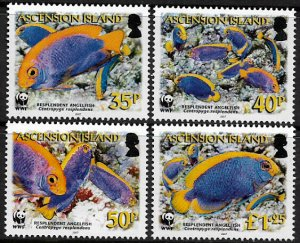 Ascension #904-7 MNH Set - WWF - Angelfish