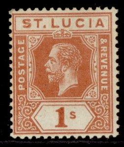 ST. LUCIA GV SG86, 1s orange-brown, LH MINT. Cat £20.