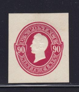 U211 VF-XF mint cut square with nice color scv $ 115 ! see pic !