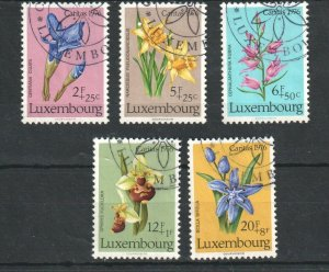 1976   LUXEMBOURG - SG: 976/80 - WILD FLOWERS -  USED