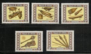 Wallis and Futuna Islands 195-9 1977 Handicrafts set MNH