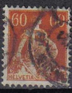 SWITZERLAND, 1908, used 60c.