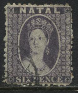 Natal QV 1864 6d violet used