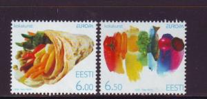 Estonia Sc 511-2 2005 Europa Food stamps mint NH