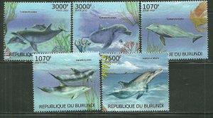 Burundi MNH Set Of 5 Save The Dolphins 2012