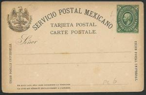 MEXICO Early 3c postcard unused............................................66214
