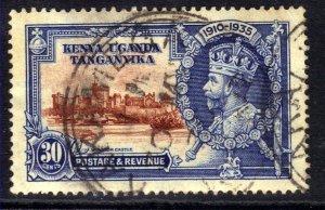 Kenya Uganda Tanganyika 1935 KGV 30ct Silver Jubilee used SG 125 ( J914 )