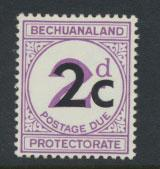 Bechuanaland Postage Due SG D8c Type II  larger 1c  Mounted Mint