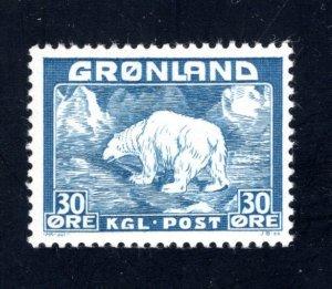 Greenland #7,   VF, Unused, CV $4.50 ....2510162