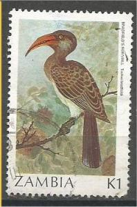 ZAMBIA, 1987, used 1k, Birds Scott 381