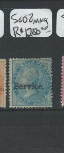 INDIA (P0804BB) QV SERVICE 1/2A  SG O2  MNG EXTREMELY RARE