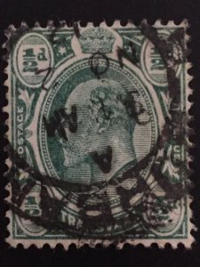 1/2 d green  world stamps #ref. bin
