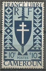 CAMEROUN, 1941, MH 10c, Lorraine Cross, Scott 283
