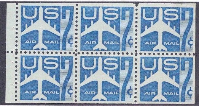 MALACK C51a F/VF OG NH Booklet Pane of 6, Bold Color..MORE.. w3139