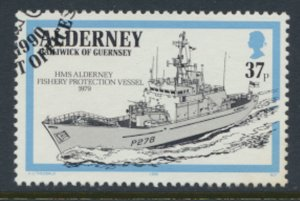 Alderney  SG A46  SC# 59  Royal Navy  Ships Used First Day Cancel - as per scan