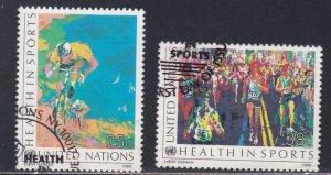 U.N. - New York # 526-527, Health in Sports,  Used