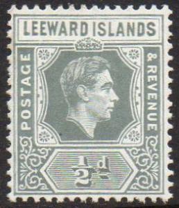 Leeward Islands 1949 1d slate-grey MH