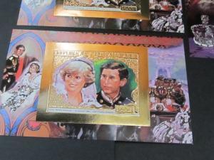 Central African 253a,b MNH Pri Diana & Pr Charle x3425