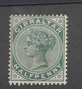 Gibraltar, 8, Queen Victoria Single,**Hinged**