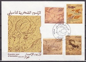 Algeria, Scott cat. 675-678. Cave Drawings issue. First day cover. ^