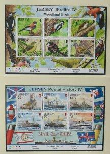 JE99) Jersey 2010 Birdlife Part IV Sheetlet + Jersey Postal History Part IV