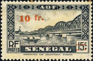 SENEGAL - 1944 - Yv.194 / Mi.229 10fr / 15c noir - Mint*