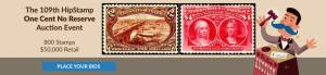 The 109th HipStamp One Cent Auction Event