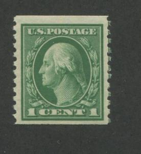 1914 US Coil Stamp #443 1c Mint Never Hinged Very Fine Original Gum