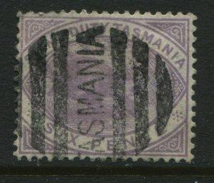 Tasmania 1880 6d Postal Fiscal stamp used