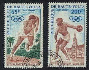 Upper Volta Olympic Games Munich 2v CTO 1972 CTO SG#363-364