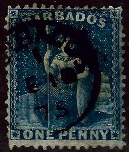 Barbados #14a Used F-VF sh perf/hhr Value $75.00...Bid to Win!!