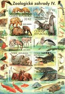 Czech Republic 2019 MNH Stamps Souvenir Sheet ZOO Animals Birds Fish Reptiles