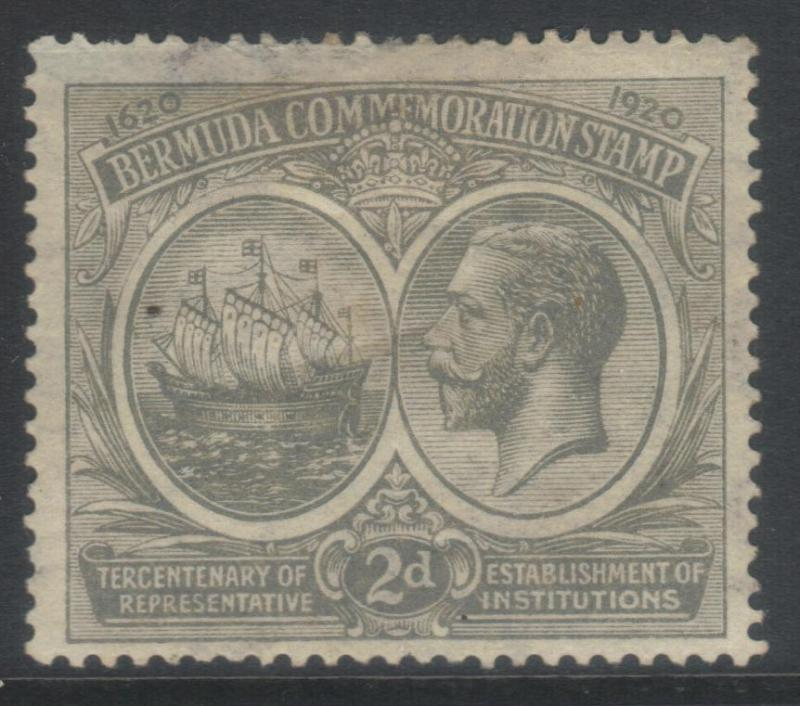 BERMUDA 1920-1921 TERCENT OF PRERESENTATIVE INST (1st ISSUE) SG61 MH CAT £18