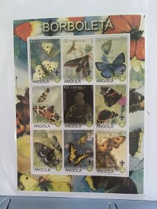 Angola 2000 Butterflies Baden Powell mint never hinged  stamps sheet R25058