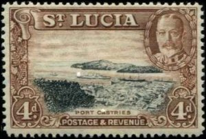 St Lucia SC# 101 Port Castries 4d MH with mount