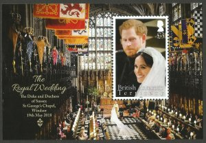 BAT British Antarctic Territory 2018 Prince Harry Meghan Royal Wedding M/S MNH